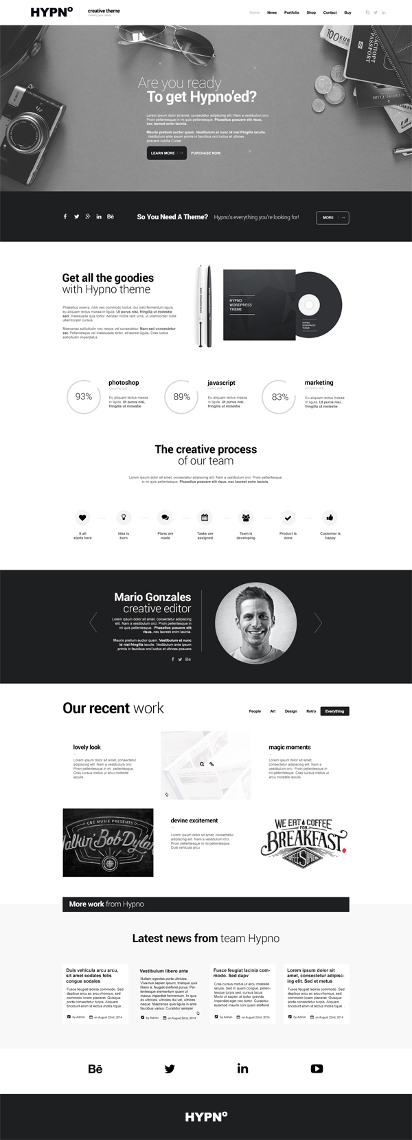 Hypno - Modern, Responsive WordPress Theme