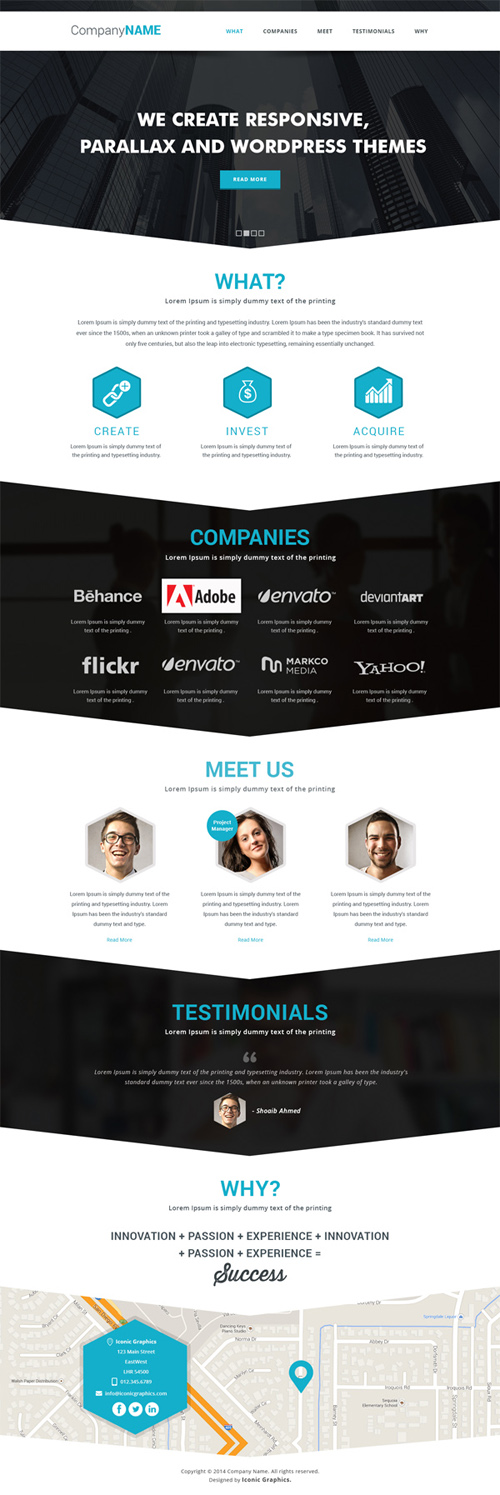 Parallax PSD Website Template