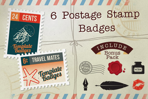 Postage Stamp Badges