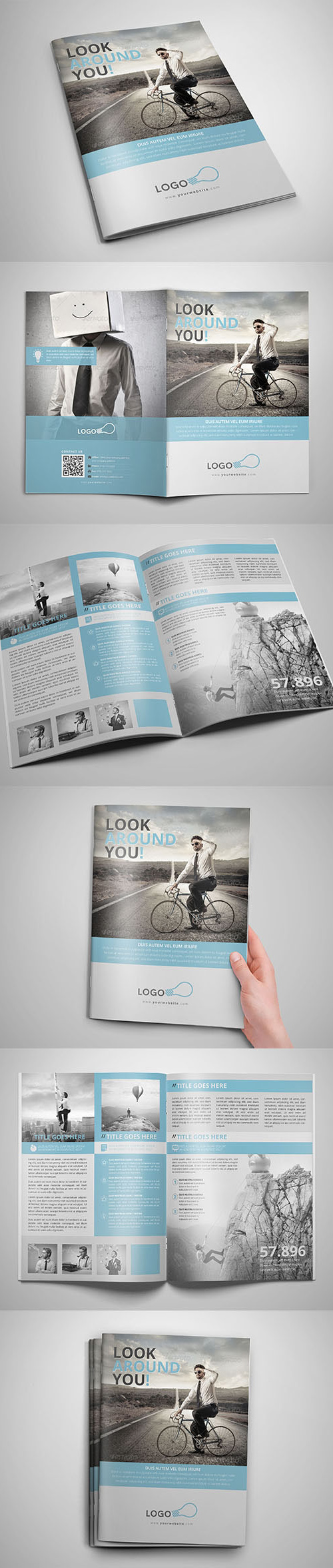 Professional Bifold Brochure Template