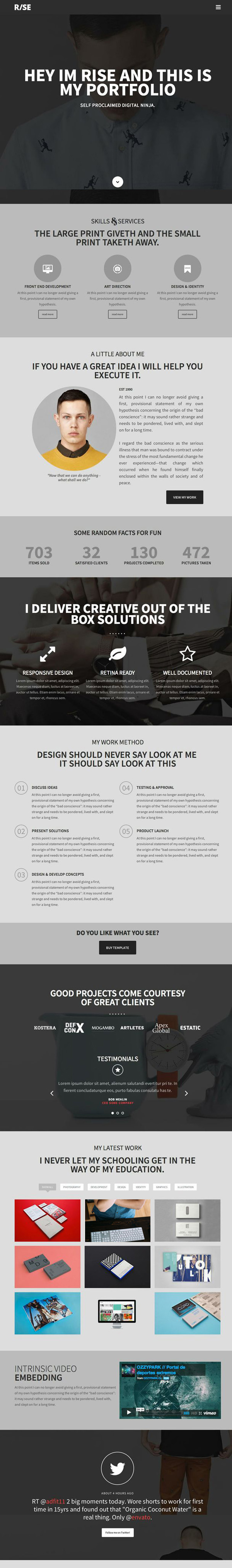 Modern Responsive HTML5 CSS3 Website Templates | Design | Graphic ...