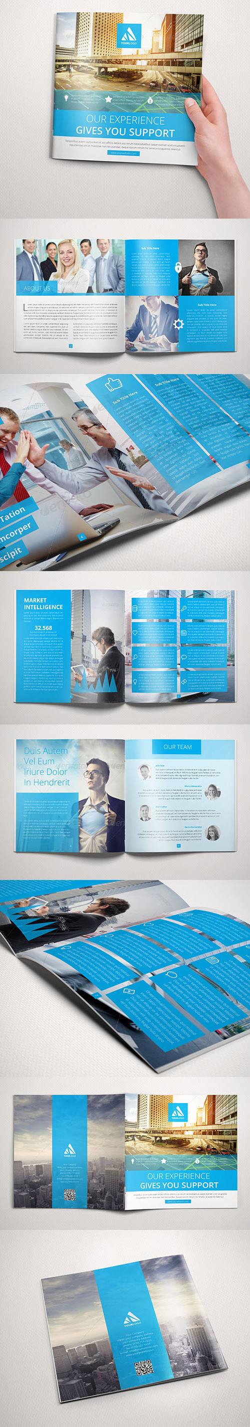 Square Corporate Brochure Design