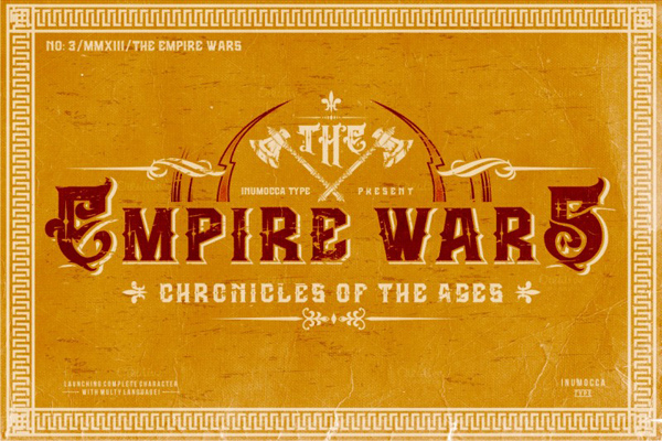 The Empire Wars (family font)