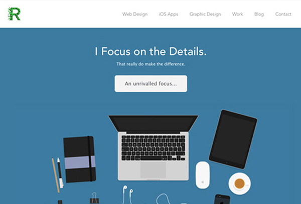 Flat Websites Design - 25 New Web Examples - 19