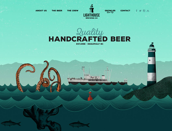 Flat Websites Design - 25 New Web Examples - 22