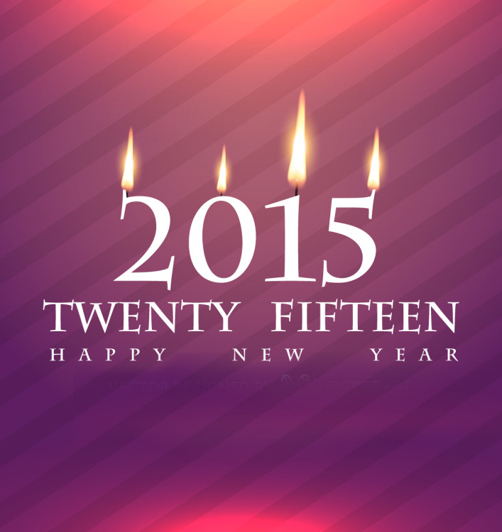 Stylish 2015 Design Free Vector
