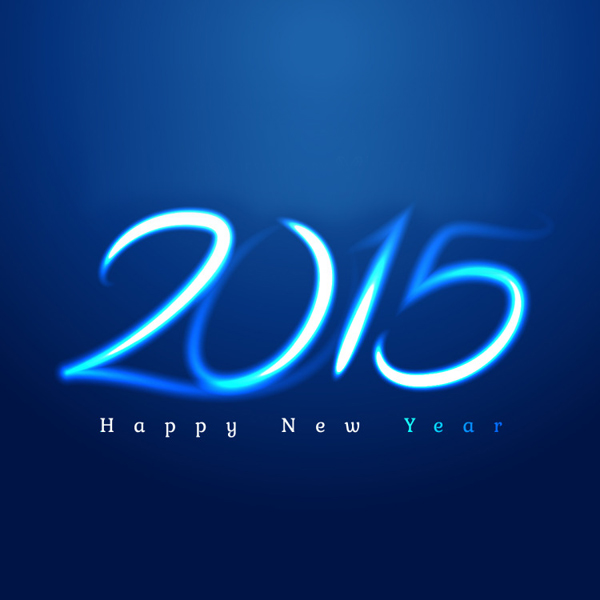 2015 New Year Free Vector
