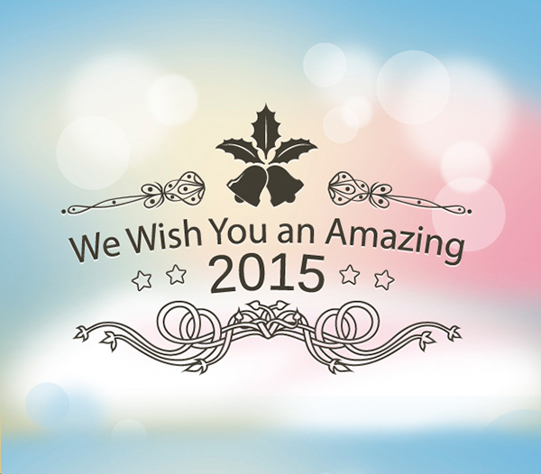 2015 wishes pastels background
