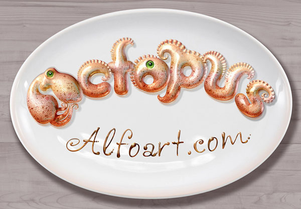 Create 3D Octopus Text Effect in Photoshop Tutorial