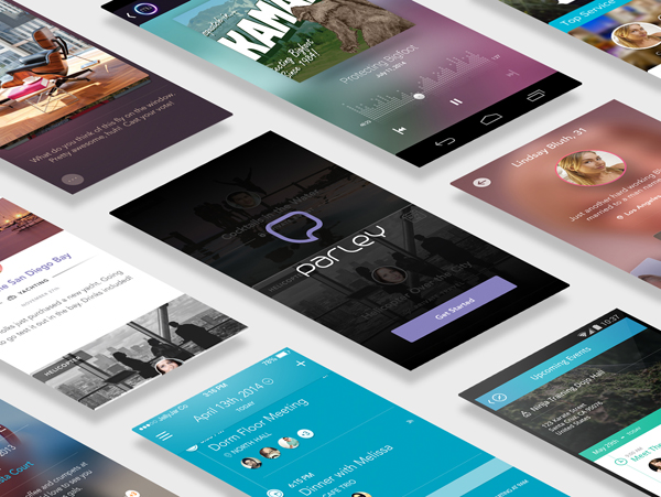 App Screen Presentation Perspective Mockup