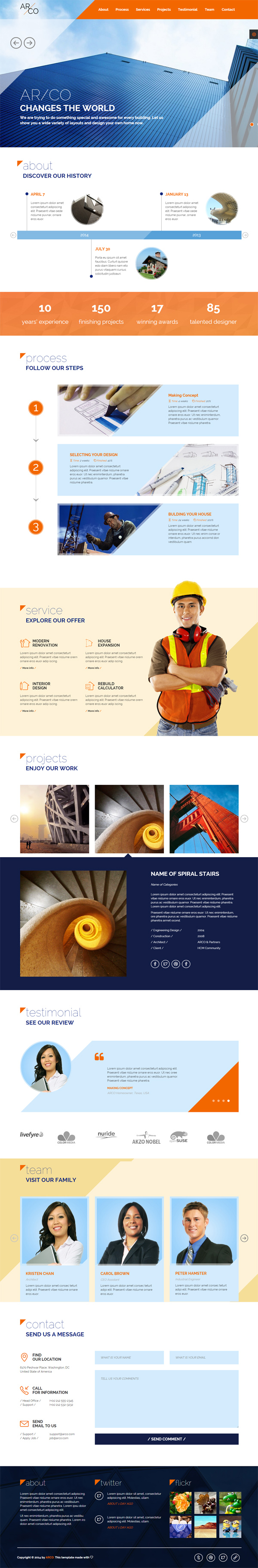 Arco - One Page HTML Template