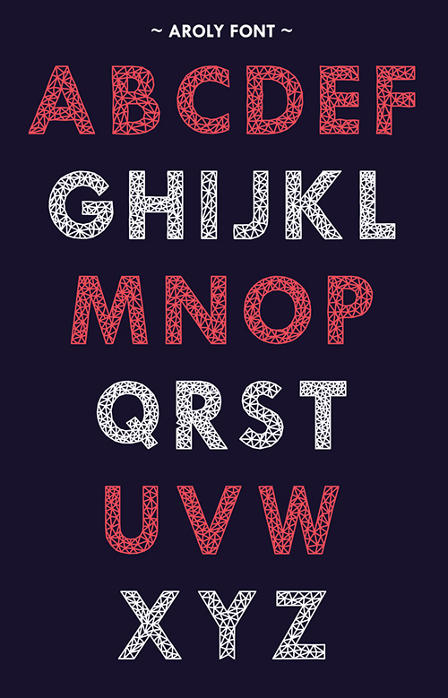 Aroly Font Letters