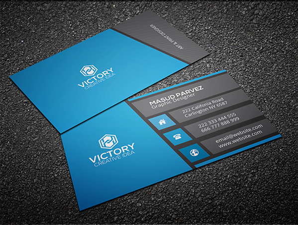 Business card photoshop template vatozozdevelopment business card photoshop template friedricerecipe Gallery