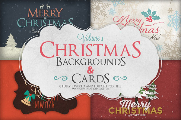 Christmas Background & Cards