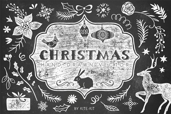 Christmas hand drawn vector pack