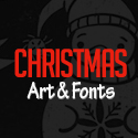 Post Thumbnail of Christmas Art & Fonts - Biggest Design Bundle