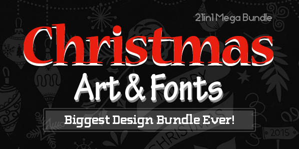 Christmas Art & Fonts – Biggest Design Bundle
