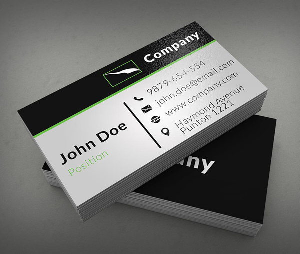 Free business cards psd templates print ready design freebies clean corporate business card template fbccfo
