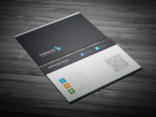 Free business cards psd templates print ready design freebies creative business card psd template cheaphphosting Images