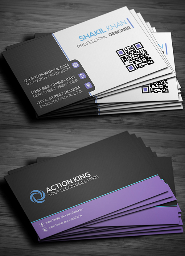 Free Business Cards PSD Templates Print Ready Design Freebies - Template for a business card