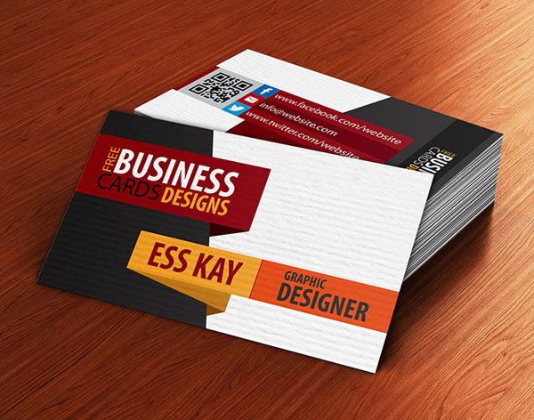Free Creative Textured Business Card Design Template