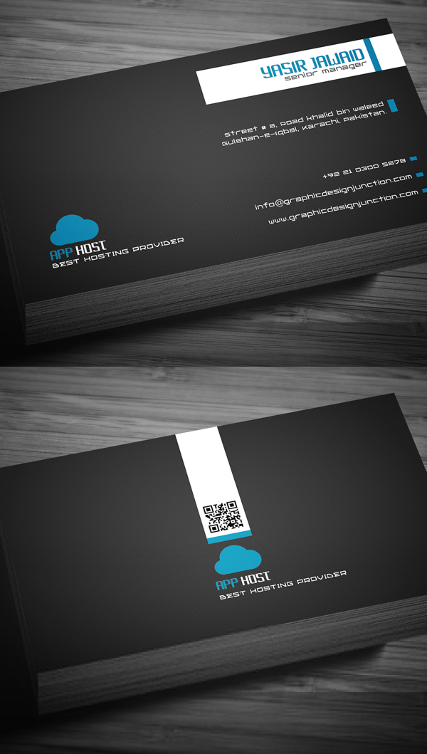 Free business cards psd templates print ready design freebies free hosting company business card template reheart Gallery