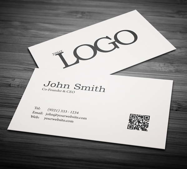 Free business cards psd templates print ready design freebies free minimal business card psd template fbccfo