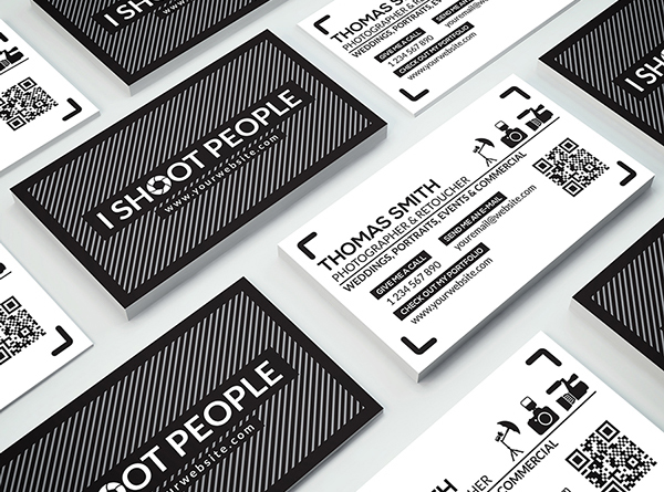 Free business cards psd templates print ready design freebies free photography business card template fbccfo Choice Image
