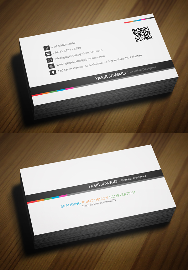 Free business cards psd templates print ready design freebies free professional business card template cheaphphosting Images