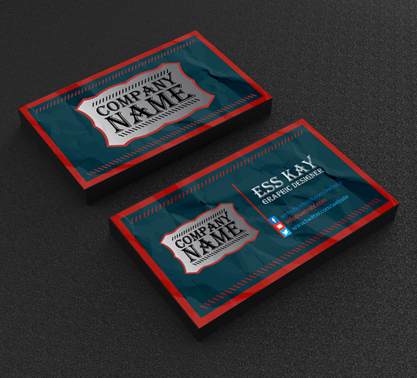 Free business cards psd templates print ready design freebies free vintage business card template design accmission