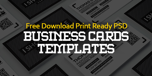 Free Business Cards PSD Templates Print Ready Design Freebies - Print at home business card template