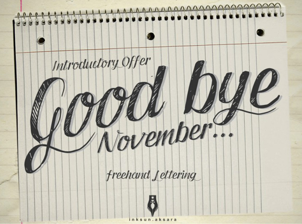 Good Bye November Typeface