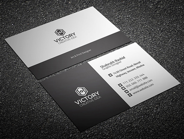 Business card photoshop template selol ink business card photoshop template reheart Image collections