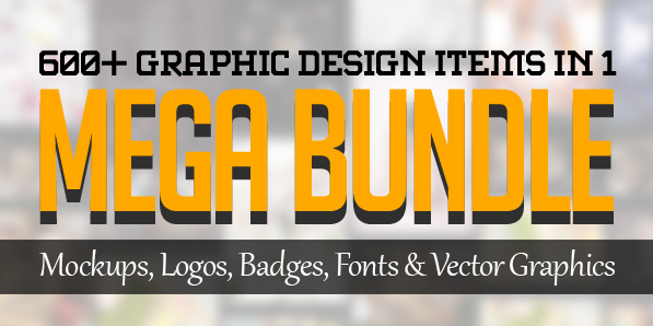 600+ Amazing Mockups, Logos, Badges, Fonts & Vector Graphics for Designers