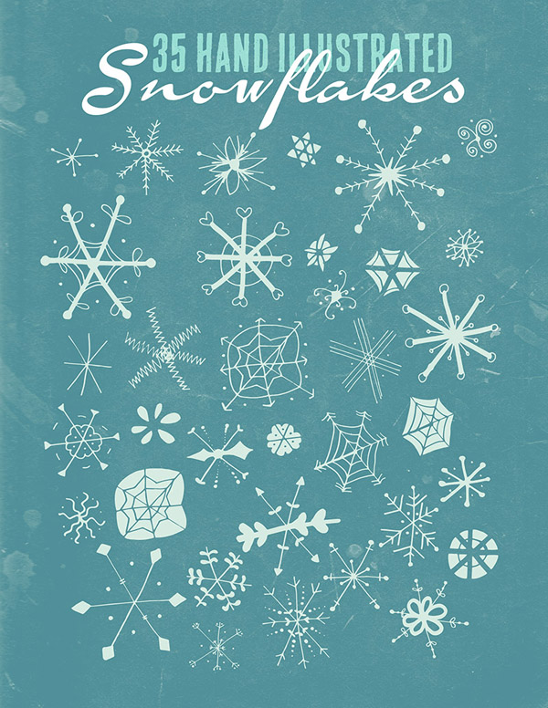 Hand Illustrated Snowflakes