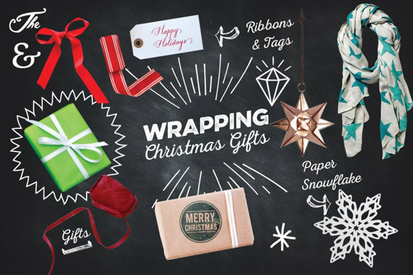 100+ Isolated Christmas Chalk Kit