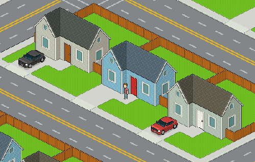 How to Create an Isometric Pixel Art Neighborhood Block in Adobe Photoshop