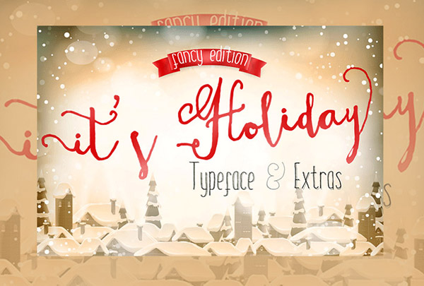 ItsHoliday Font – Fun Calligraphy Font