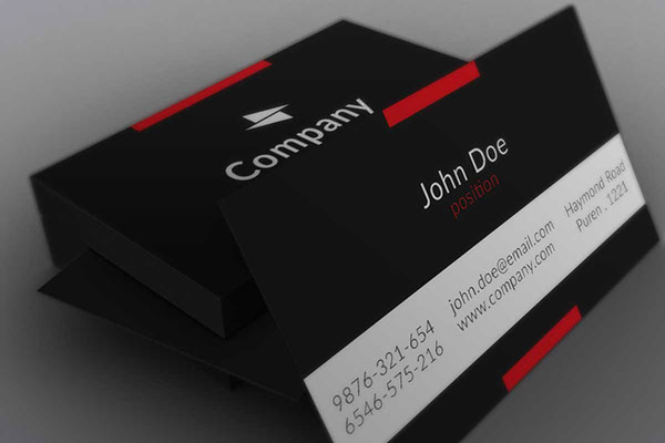 Free business cards psd templates print ready design freebies minimalistic black business card template fbccfo Images