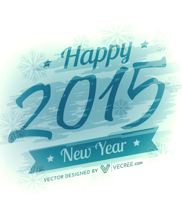 New Year 2015 Blue Background