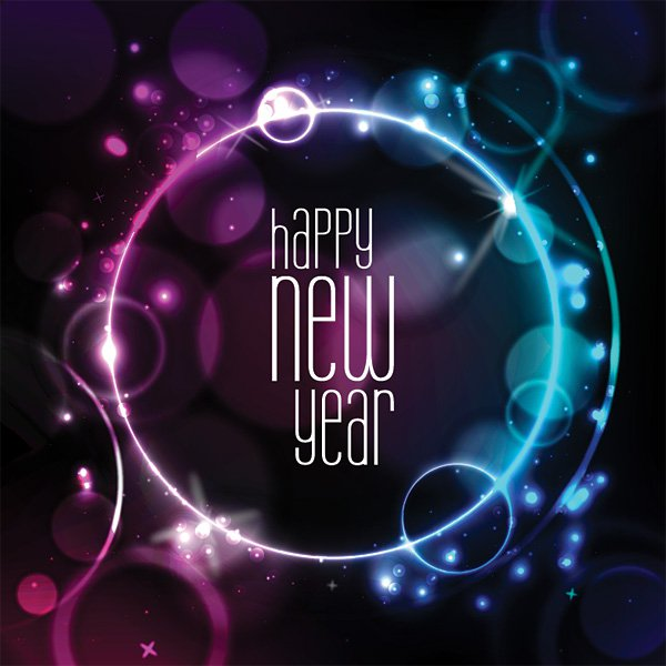 New Year Card Vector Graphic