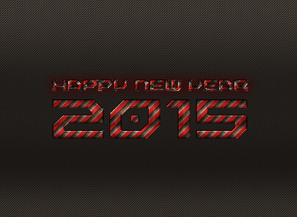 New Year 2015 Wallpaper Steel Effect