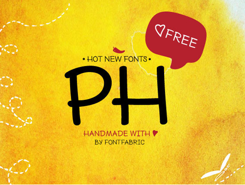 PH rounded free font