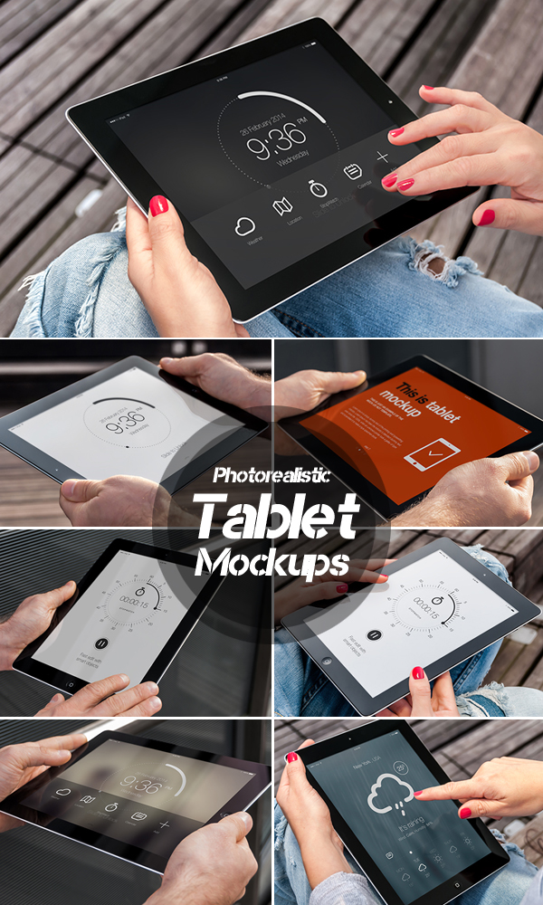Photorealistic Tablet Mockups