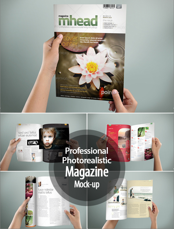 Professional & Photorealistic Magazine Mock-up