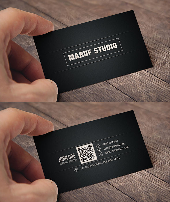Blakish Simple Free Psd Business Card