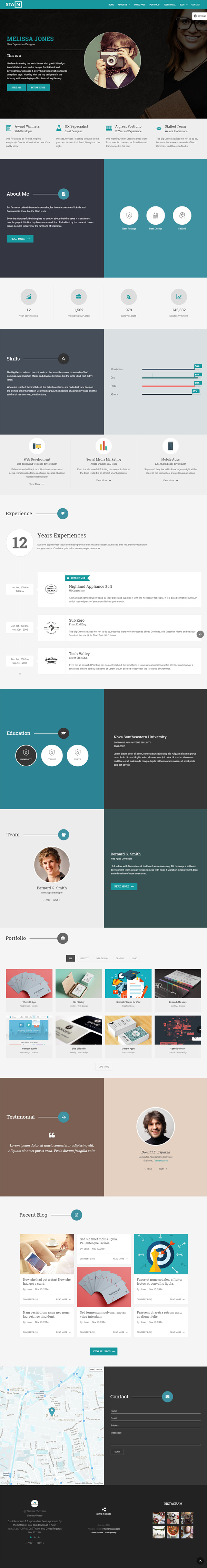 Stain - Creative One Page Portfolio Blog Template