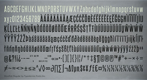 Steelfish Free Font for Hipsters