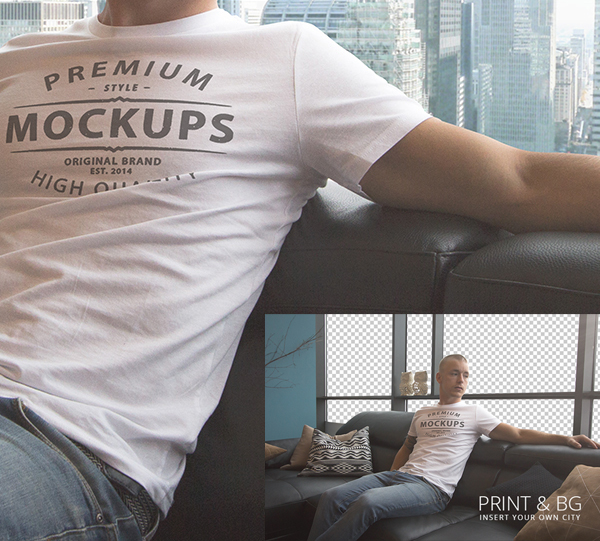 T-shirt PSD Mockup – Free Download
