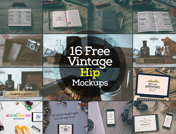Vintage Hip Mockups Free Download